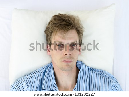 Cant sleep - stock photo