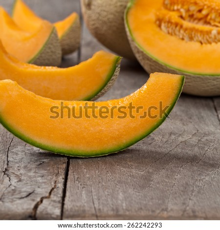 Cantaloupe Melons. Selective focus. - stock photo