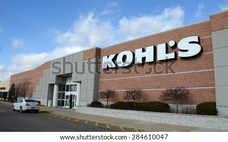 CANTON, MI - DECEMBER 31:  Kohl's, whose Canton location is shown on December 31, 2014, has over 1,000 stores.  - stock photo