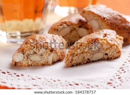 cantucci cookies - traditional Italian confectionery products - stock photo