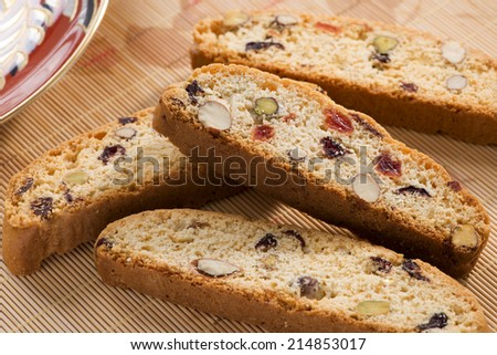 Cantucci on the table. - stock photo