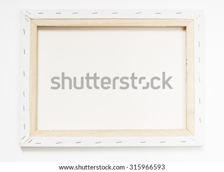 canvas frame - stock photo