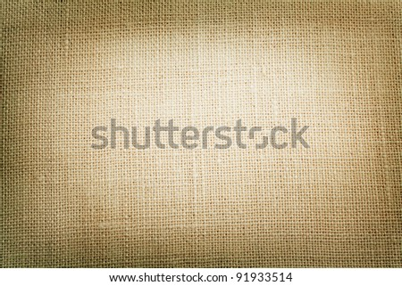 canvas texture with vignette close up - stock photo