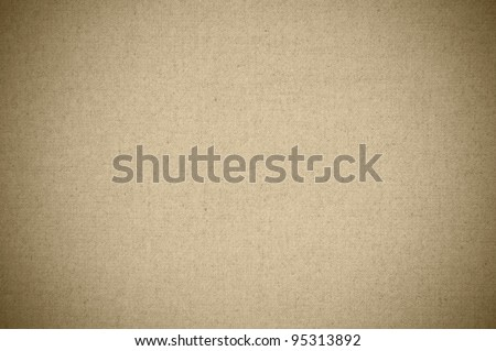 Canvas textured background with vignette - stock photo