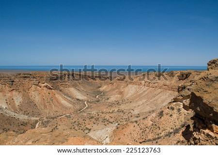 Canyon Exmouth Western Australia - stock photo