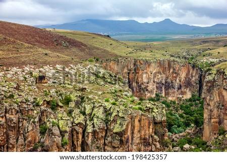 Canyon Ihlara, Cappadocia, Turkey - stock photo