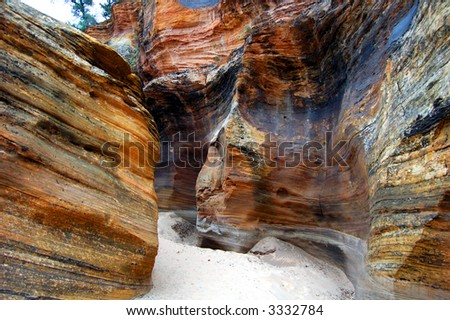 canyon in Zion National Park - stock photo