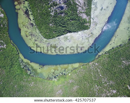 Canyon of river Crnojevica, Montenegro. - stock photo