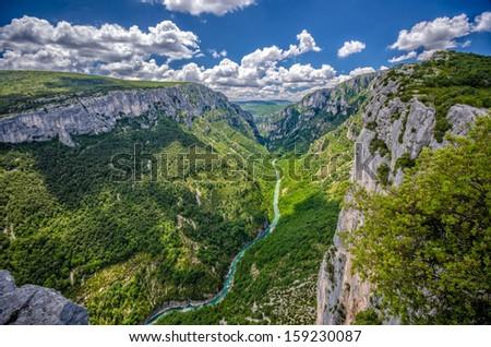 Canyon of Verdon River, France. - stock photo