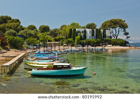 Cap d'Antibes on the Cote d'Azur - stock photo