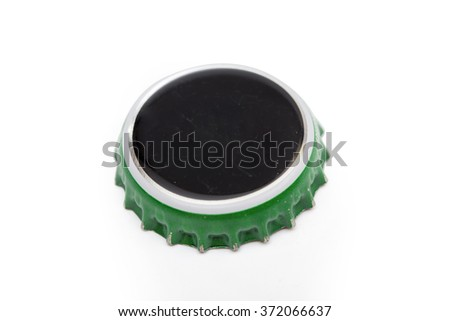 cap on the white background - stock photo