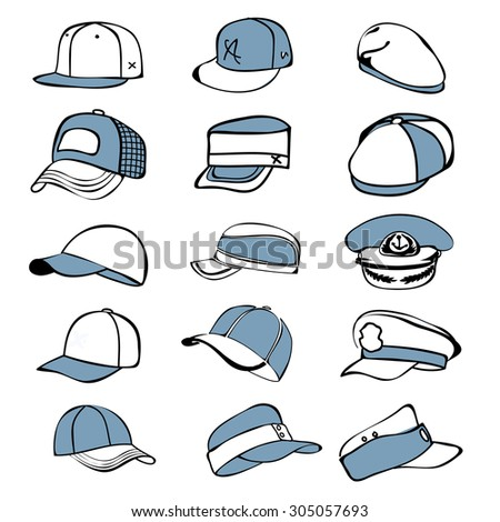 how to draw a flat cap