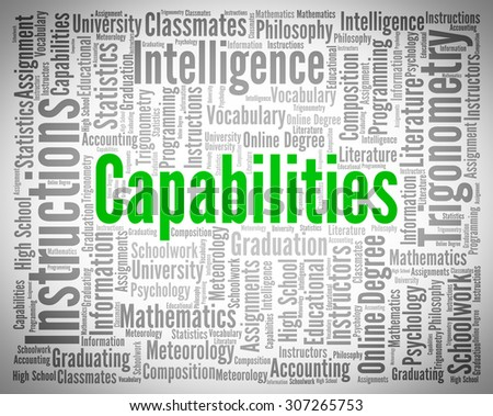 Capabilities Word Showing Ability Skills And Skill - stock photo