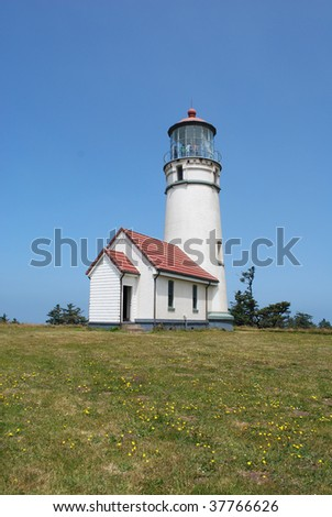 Cape Blanco Lighthouse, Oregon - stock photo
