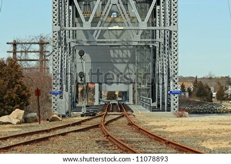 Cape Cod Railroad Bridge 1 - stock photo