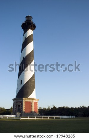 Cape Hatteras Lighthouse (vertical) - stock photo