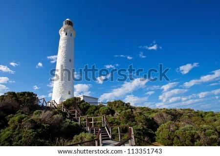 Cape Leeuwin lighthouse, We Australia - stock photo