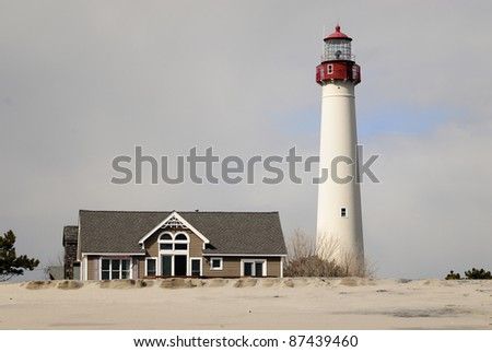 Cape May Lighthouse - stock photo