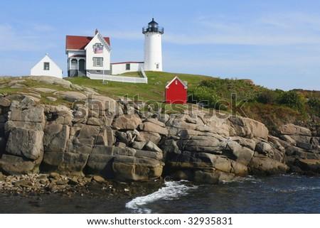 "Cape Neddick (""Nubble"") Lighthouse - stock photo"