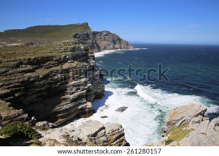 Cape Point in South Africa - stock photo