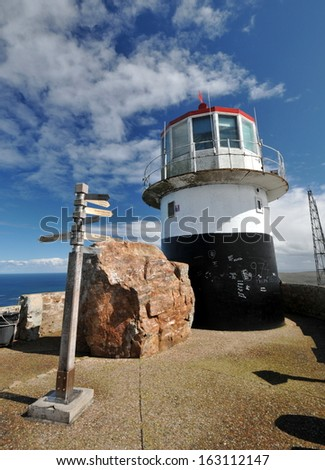 Cape Point light house South Africa - stock photo