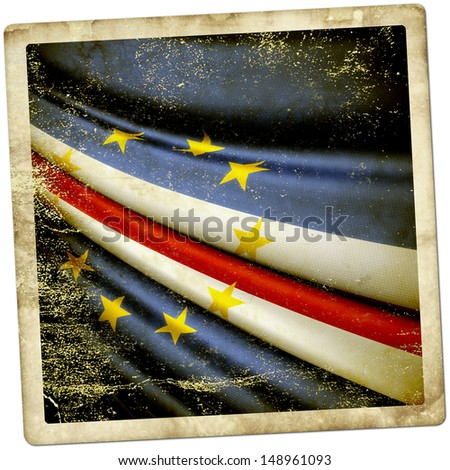 Cape Verde grunge sticker - stock photo