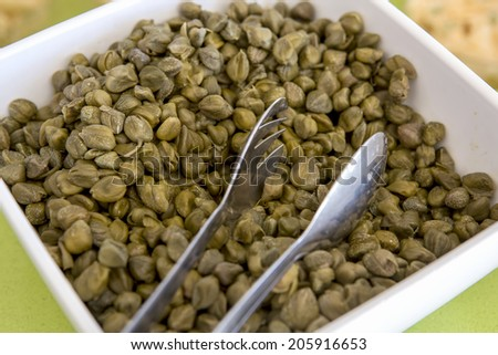 capers ready to serve - stock photo