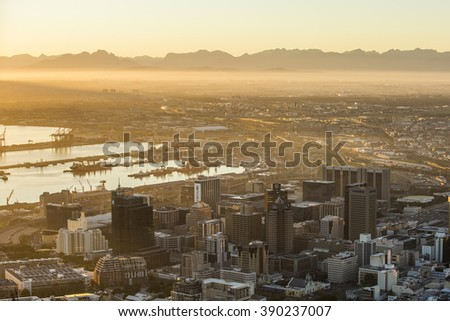 Capetown Sunrise - stock photo