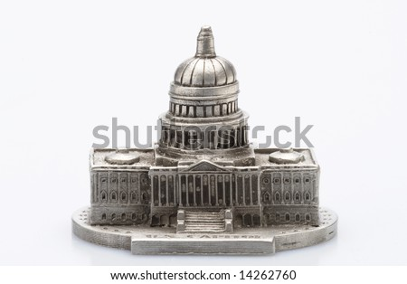 Capital Building Statue - stock photo
