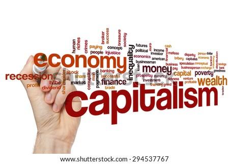 Capitalism word cloud concept - stock photo