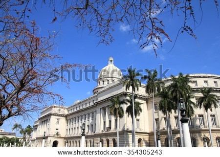 Capitol building in Havana, Cuba. National government. - stock photo