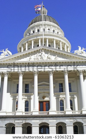 Capitol Building in Sacramento - stock photo