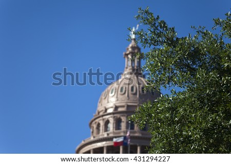 Capitol building of the Republic of Texas in Austin - stock photo