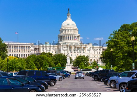 Capitol building Washington DC USA Pennsylvania Avenue - stock photo
