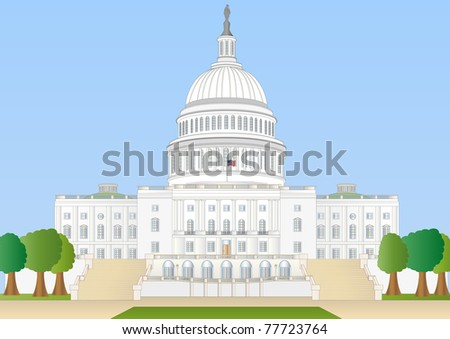 capitol hill - stock photo