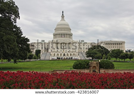 Capitol Hill Building, Washington DC, USA - stock photo