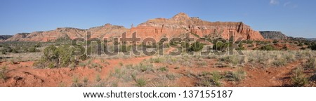 Capitol Peak in Palo Duro Canyon State Park, Texas - stock photo