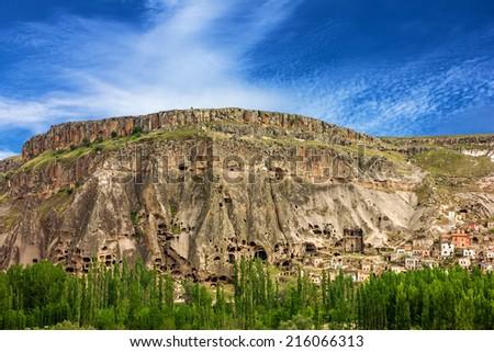 Cappadocia, Anatolia, Turkey. Canyon Ihlara - stock photo