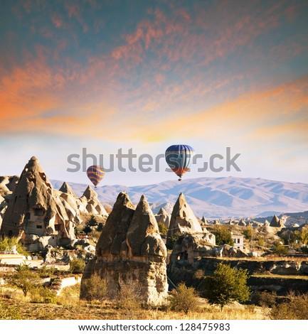 Cappadocia in Turkey - stock photo