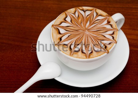 cappuccino, barista coffee cup - stock photo