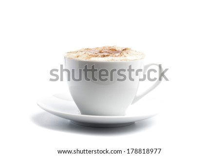 Cappuccino cup of coffee - stock photo