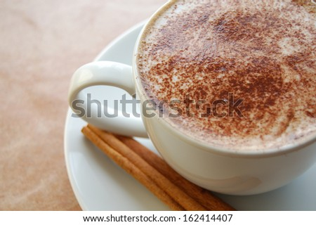 Cappuccino drink. - stock photo