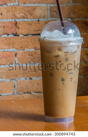 cappuccino ice coffee - stock photo