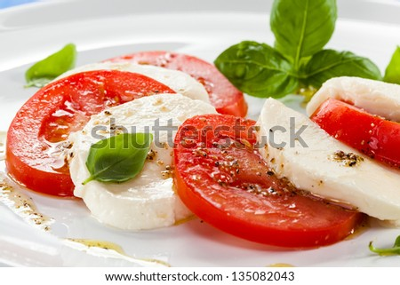 Caprese salad - stock photo