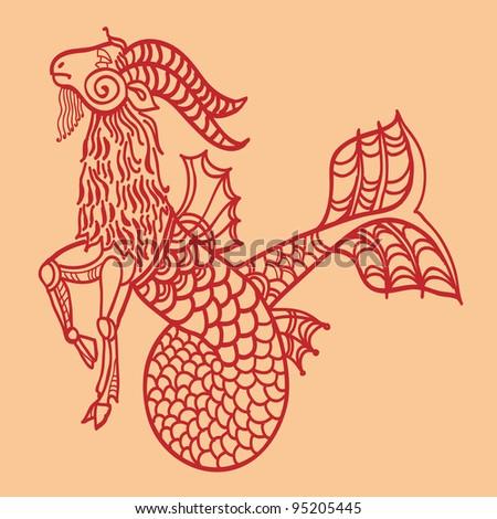 capricorn, sign of the zodiac - stock photo
