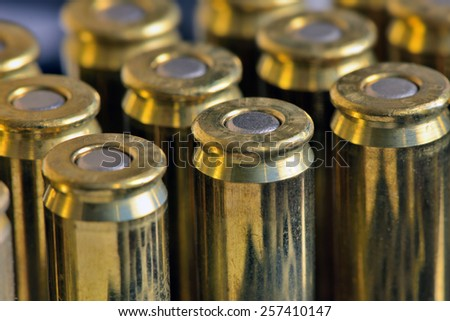 capsular part of the combat cartridge - stock photo