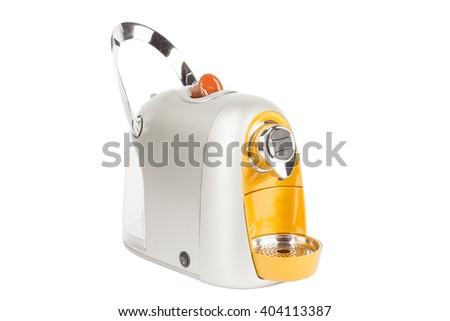 Capsule espresso coffee maker or coffee machine  - stock photo