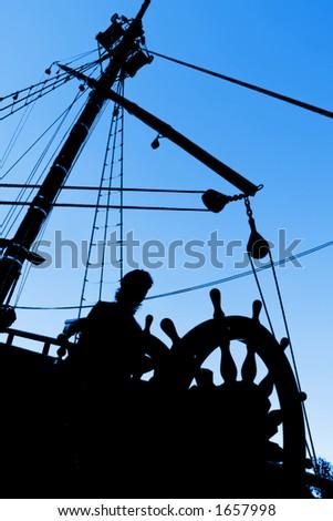 Captain's Silhouette - stock photo