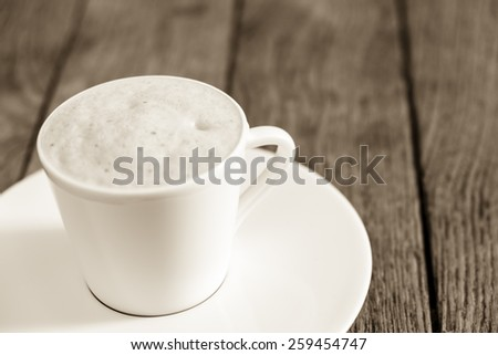 Capuccino detail at Paris, France - stock photo
