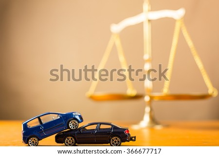 Car accident need to justice in case can not negotiations - stock photo